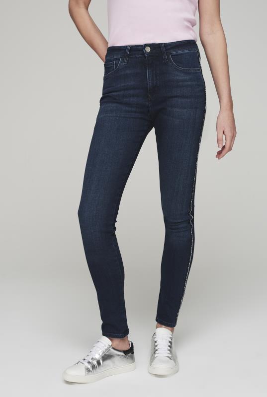 MAVI Indigo Lucy Side Stripe Skinny Jeans