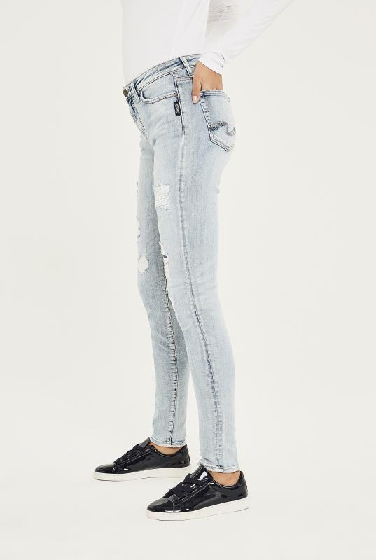 Silver Mazy Super Skinny Jean In Light Denim