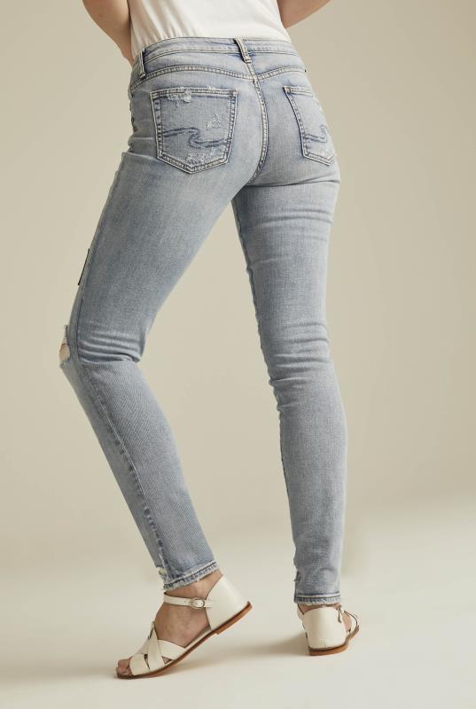 Silver Aiko Ankle Skinny Jean In Light Denim