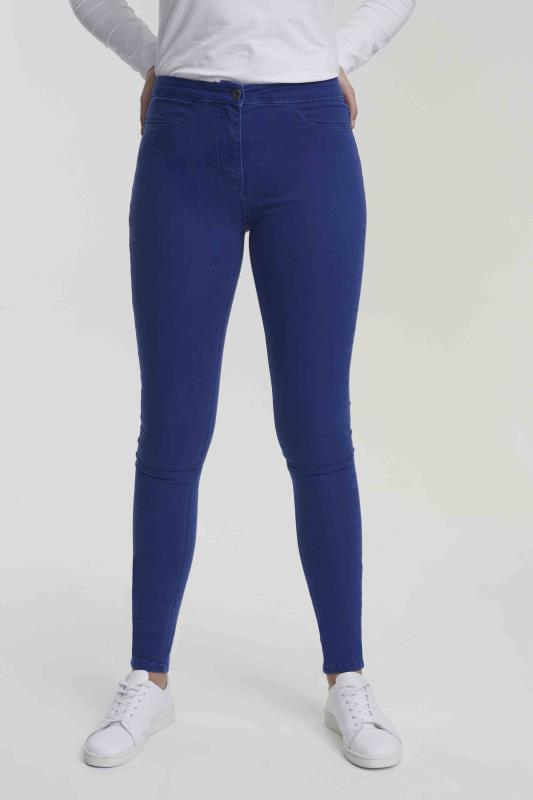Blue Skinny Stretch Denim Jeggings