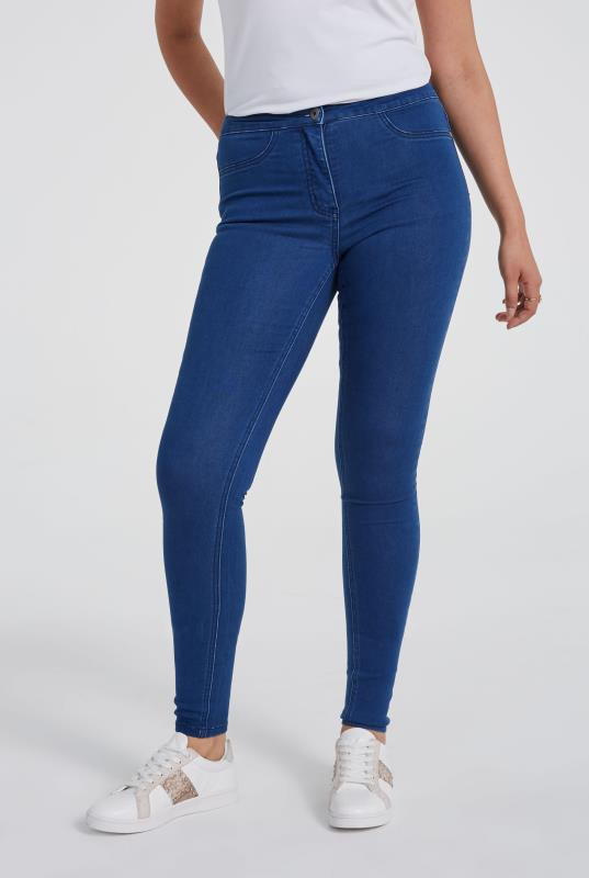Cobalt Blue Skinny Stretch Denim Jeggings