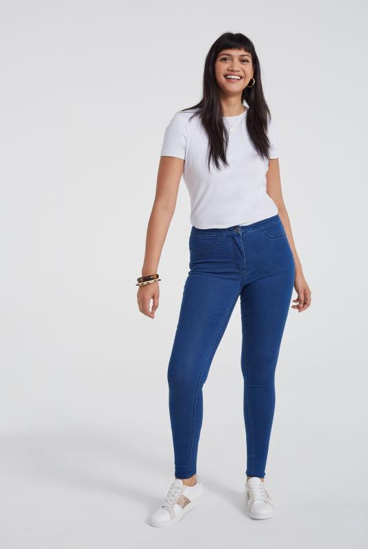 Cobalt Blue Skinny Stretch Denim Jeggings