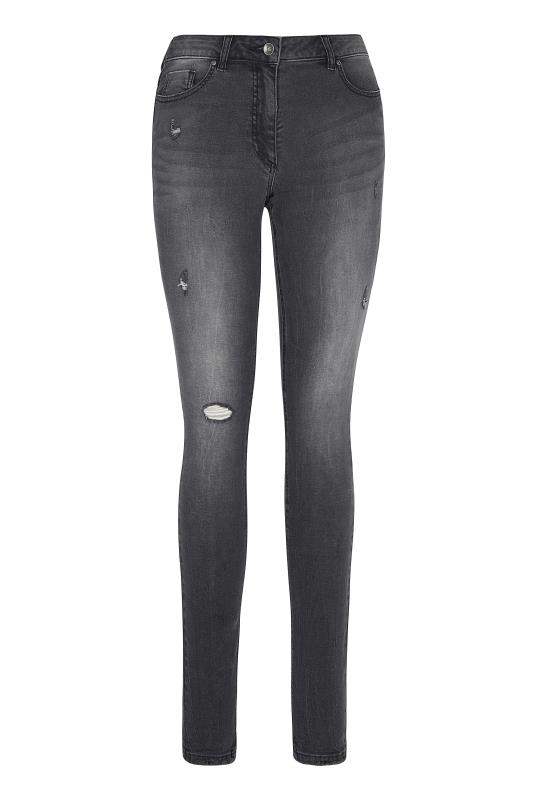 Washed Grey Distressed Skinny Jean