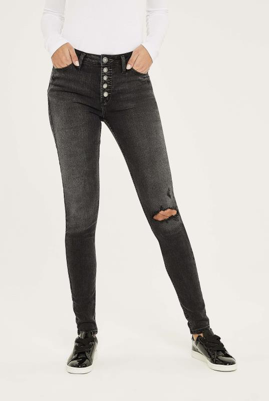 Tall Jeans SILVER JEANS Washed Black Robson Skinny Jeans