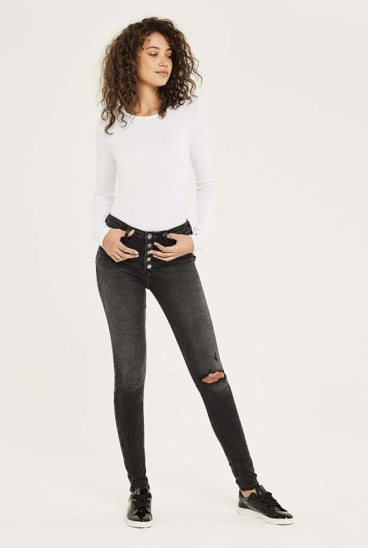 SILVER Robson Washed Black Skinny Jeans