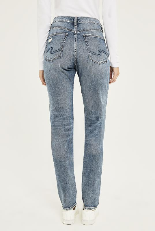 Silver Frisco Tapered Mom Jean In Mid Denim