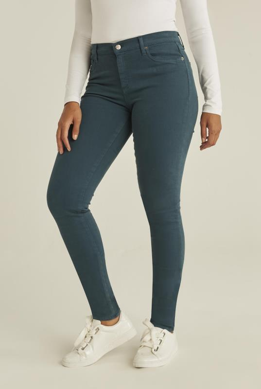 Tall Jeans YOGA JEANS Teal Rachel Skinny Jeans