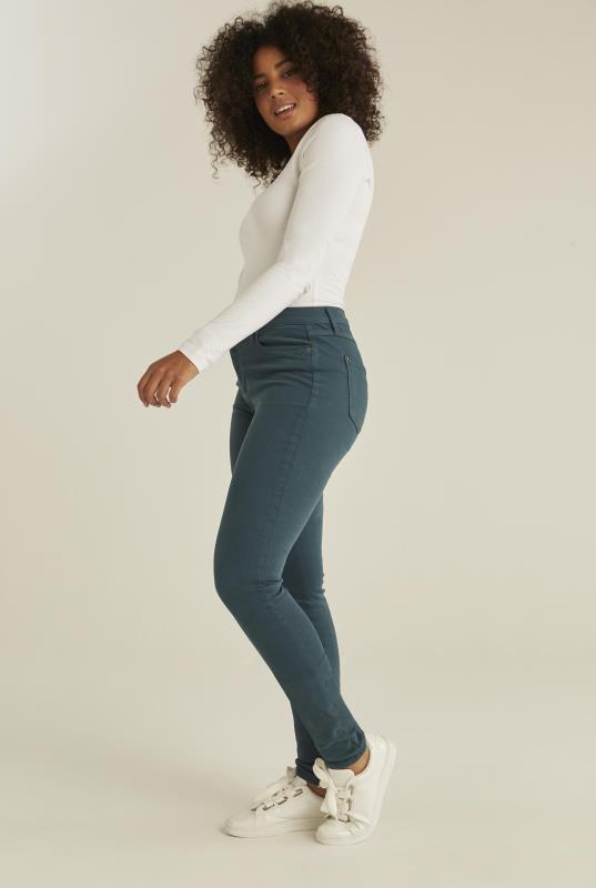 YOGA JEANS Teal Rachel Skinny Jeans