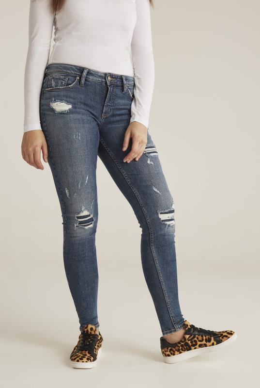 Silver Avery Skinny Jean