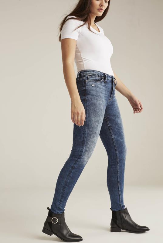 Tall Jeans Silver Robson Skinny Jean In Mid Denim