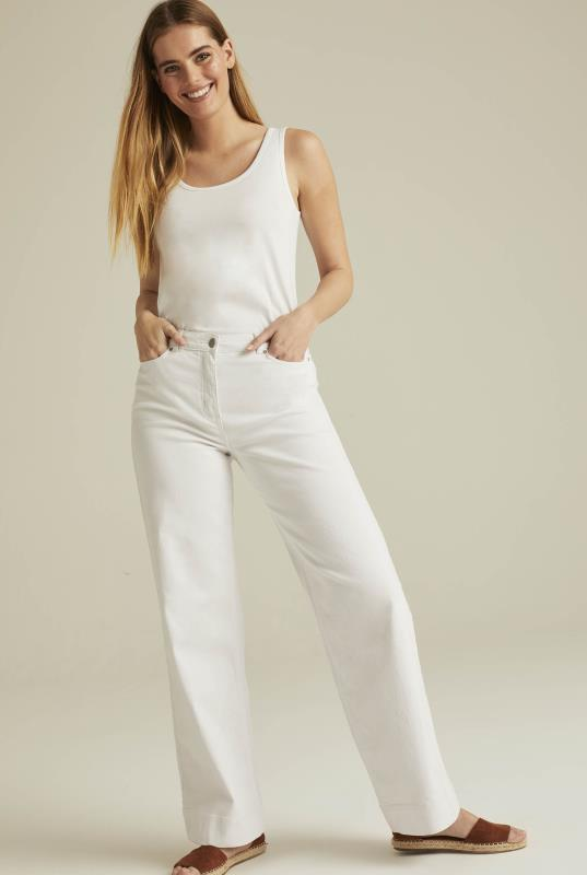 White Wide Leg Jean
