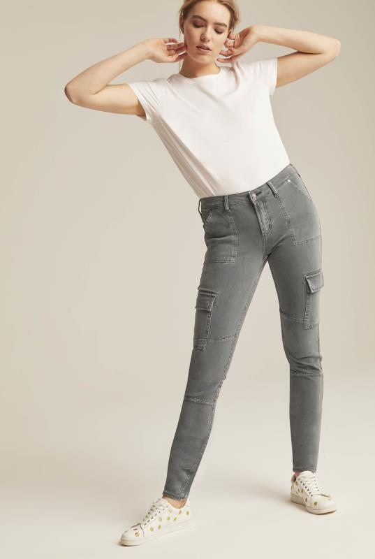 Tall Jeans Silver Low Rise Skinny Cargo Jeans