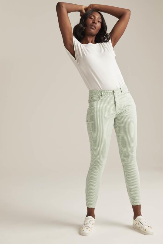 Green Stripe Ankle Grazer Jean