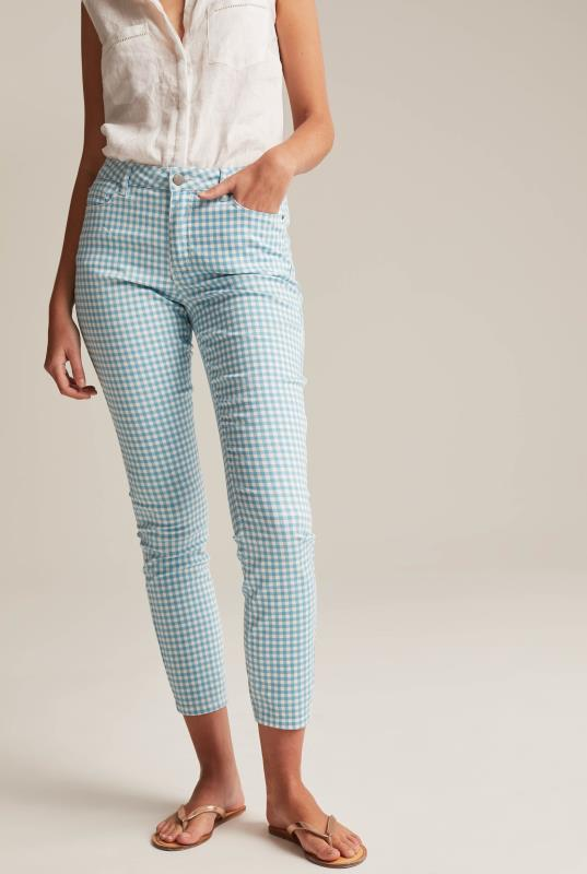 Tall Jeans Gingham Ankle Grazer Jean