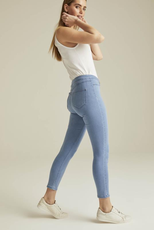 Blue Denim Crop Jegging