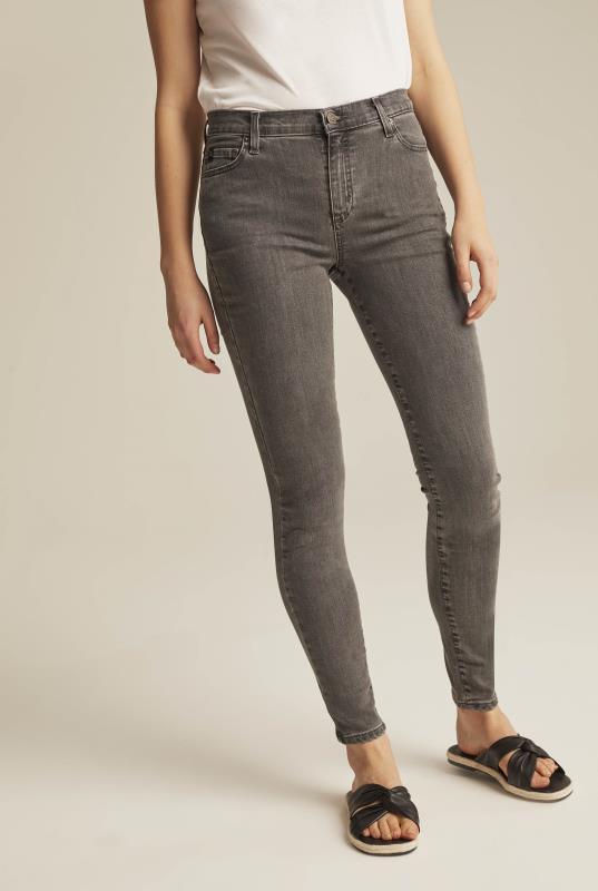 YOGA JEANS Grey Rachel Skinny Jeans