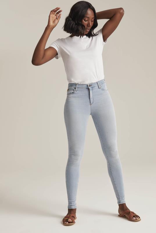 Tall Jeans Yoga Bleach Rachel Skinny Lighthouse Jeans