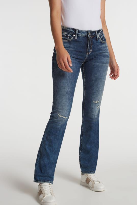 Blue Avery Slim Bootcut Jean