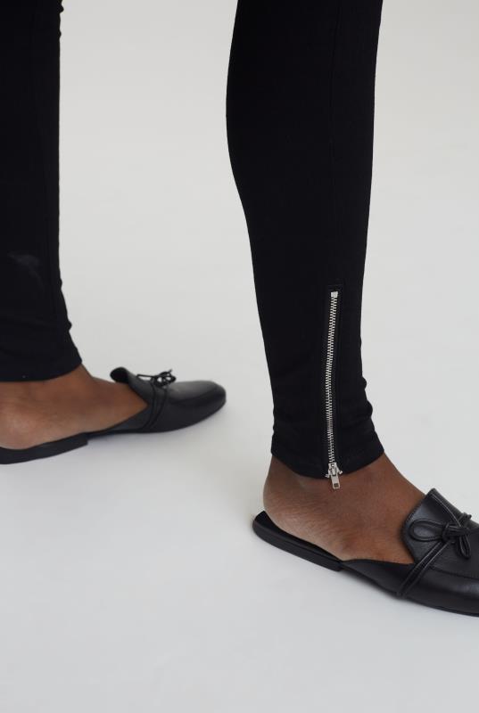 Black Zip Hem Skinny Jean