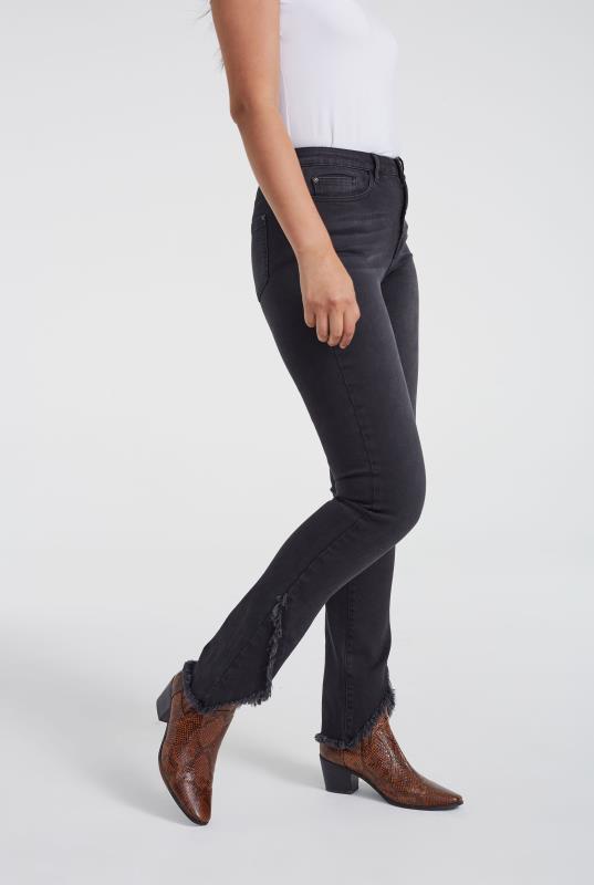 Aysemmetric Hem Slim Leg Jean