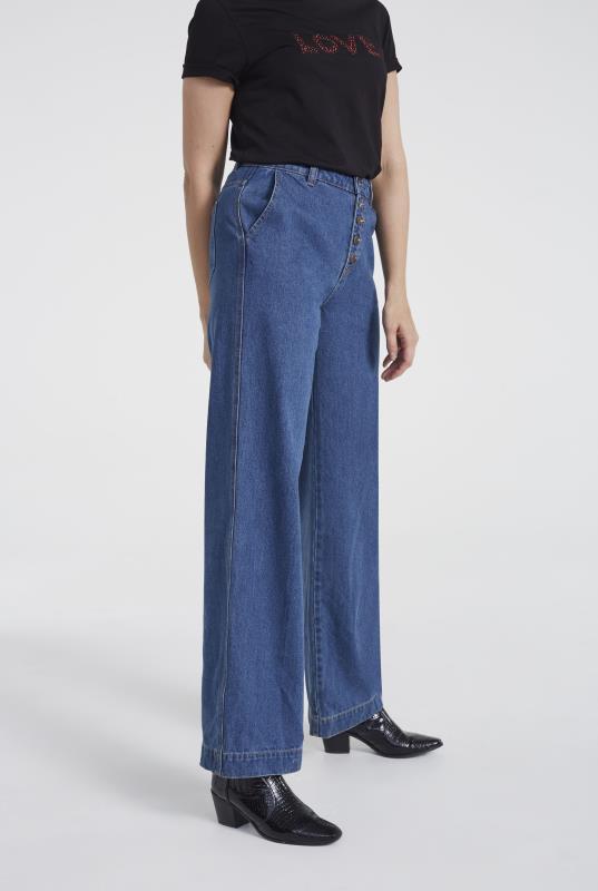 Indigo Blue Premium Wide Leg Jeans