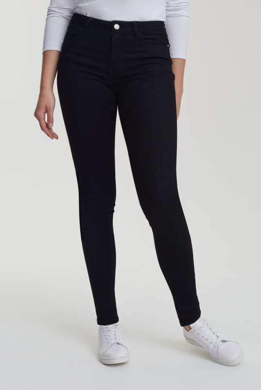 Black Skinny Low Rise Jeans