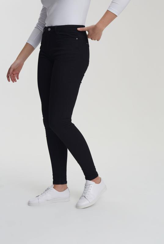 Black Skinny Low Rise Jeans