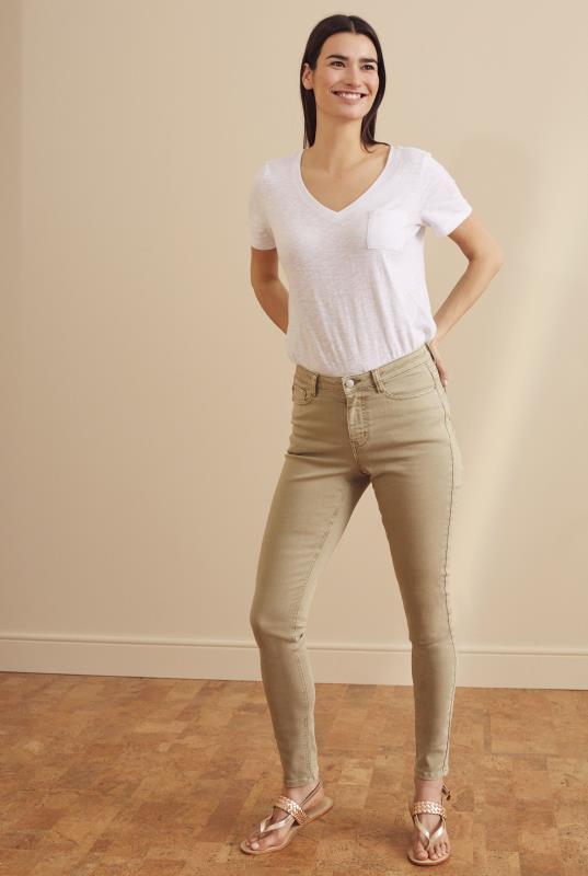 Tall Jeans Tan Skinny Low Rise Jeans