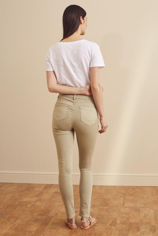 Tan Skinny Low Rise Jeans