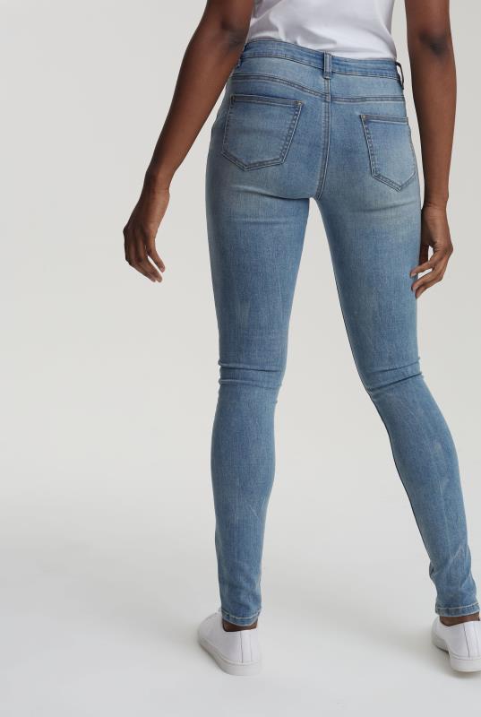 Vintage Blue Skinny Low Rise Jeans