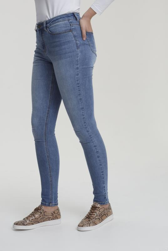 Mid Blue Skinny Low Rise Jeans