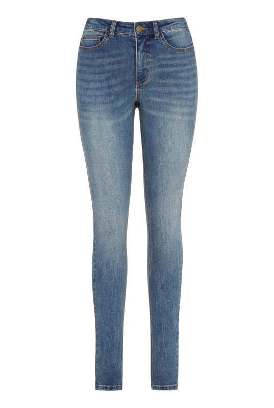 Mid Blue Skinny Mid Rise Jean