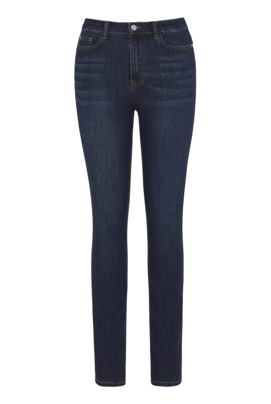 Red Slim Leg Mid Rise Jeans