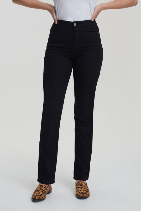Tall Jeans Black High Rise Straight Leg Jeans