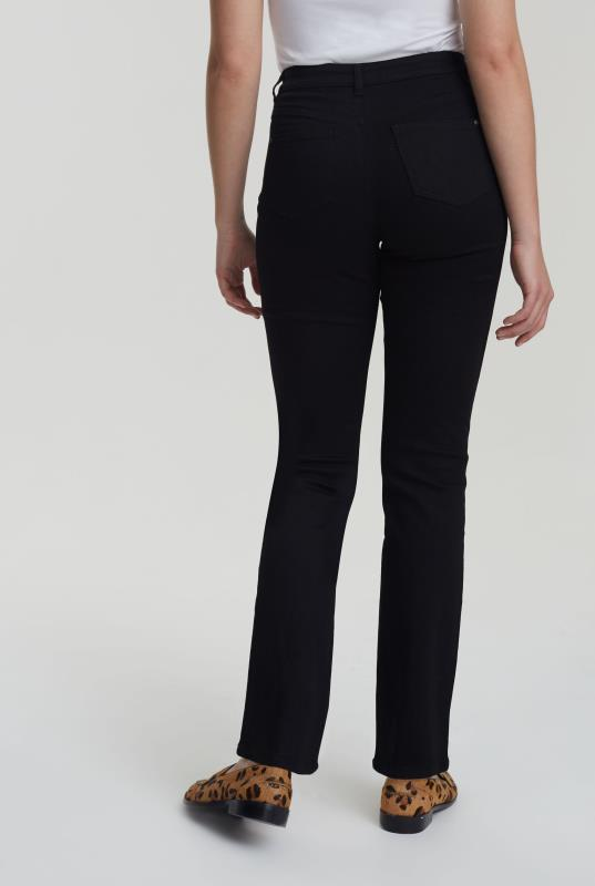 Black High Rise Straight Leg Jeans