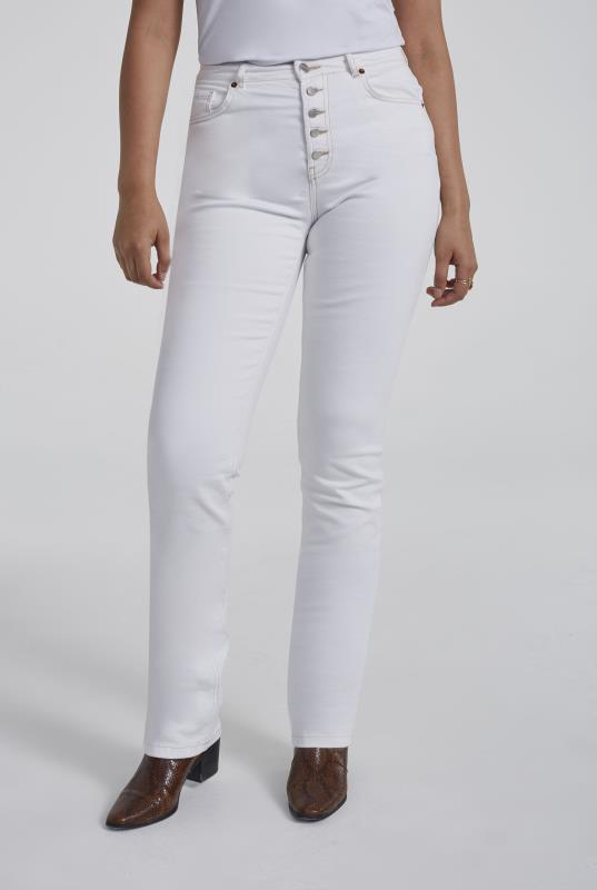White Authentic Straight Jean