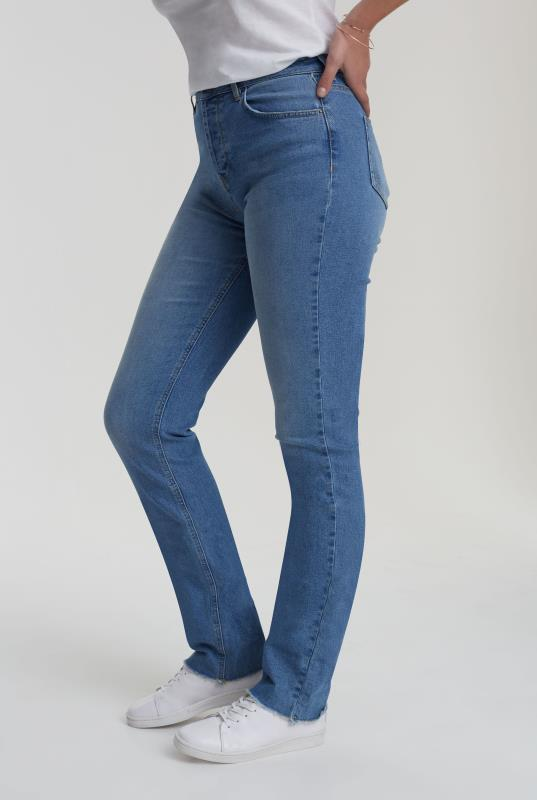 Light Wash Blue Authentic Straight Jean