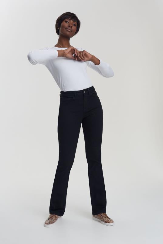 Black Ultra Stretch Slim Bootcut Jeans