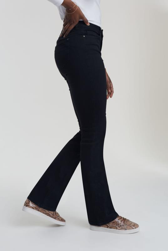 Black Ultra Stretch Slim Bootcut Jeans