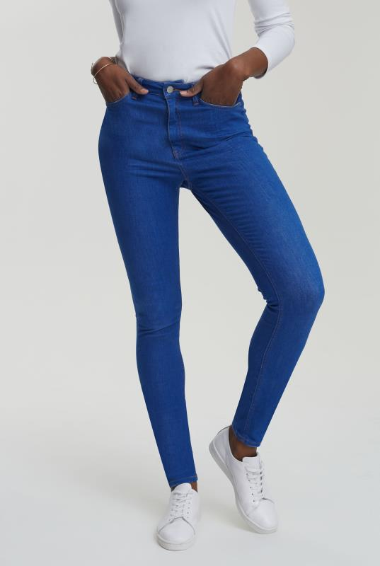 Tall Jeans Cobalt Blue Ultra Stretch Skinny Jeans