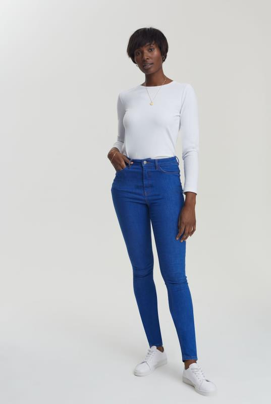 Blue Ombre Ultra Stretch Skinny Jeans