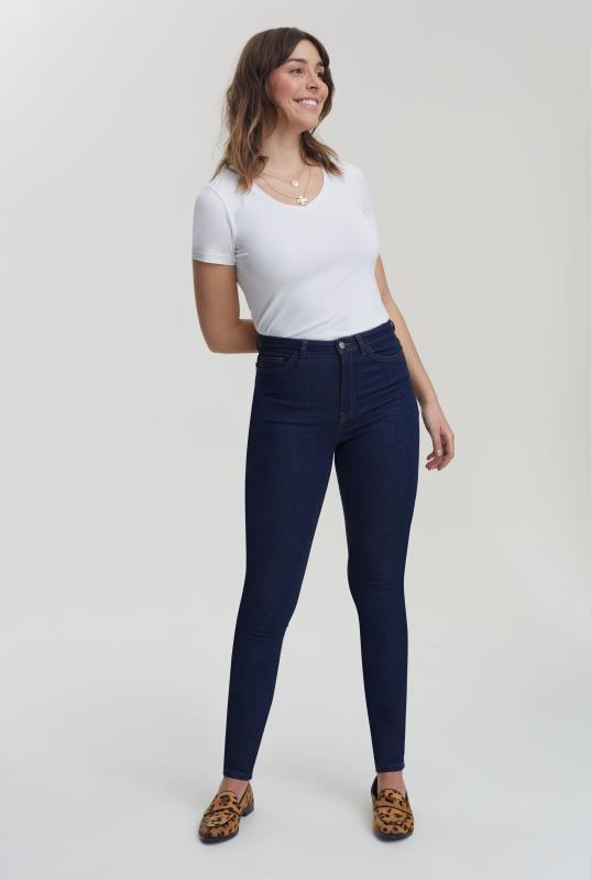 Blue Ultra Stretch Skinny Jeans