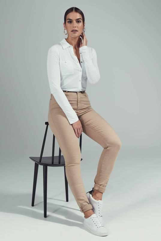 Tan Ultra Stretch Skinny Jeans