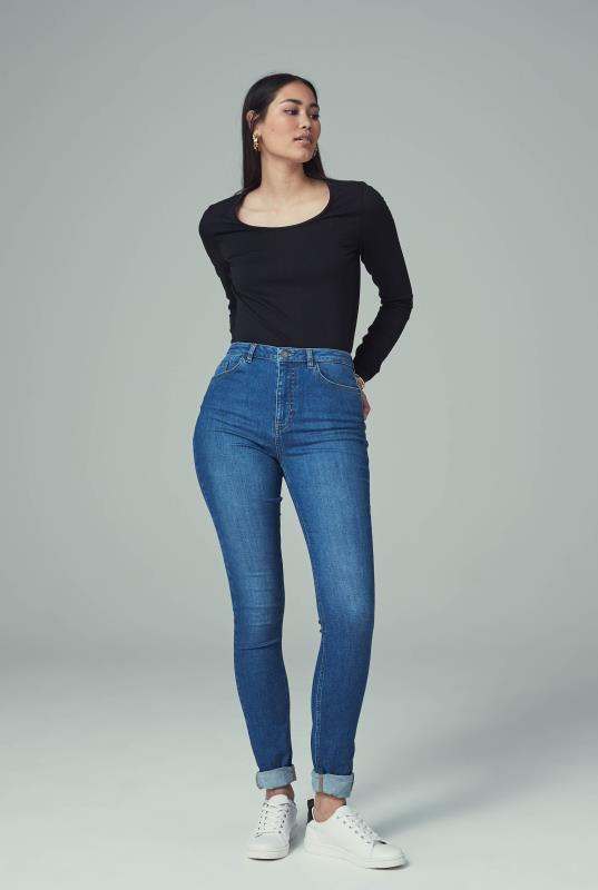 Mid Blue Ultra Stretch Skinny Jeans