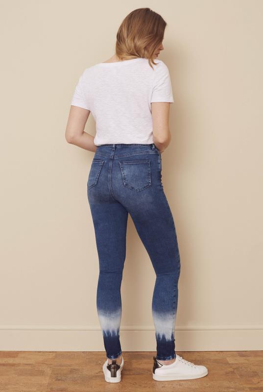 Blue Ombre Ultra Stretch Skinny Jeans