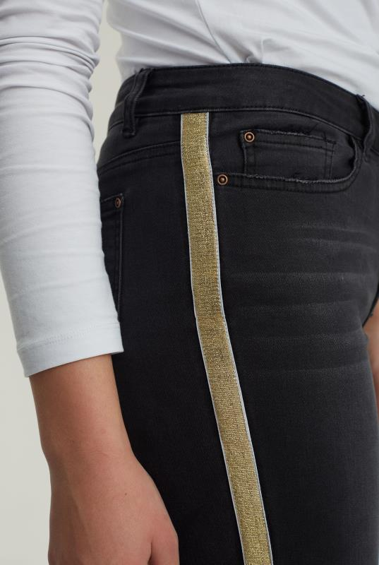 Gold Side Stripe Jean