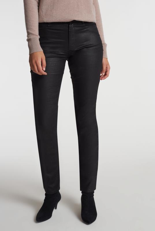 Black Coated Slim Leg Jean