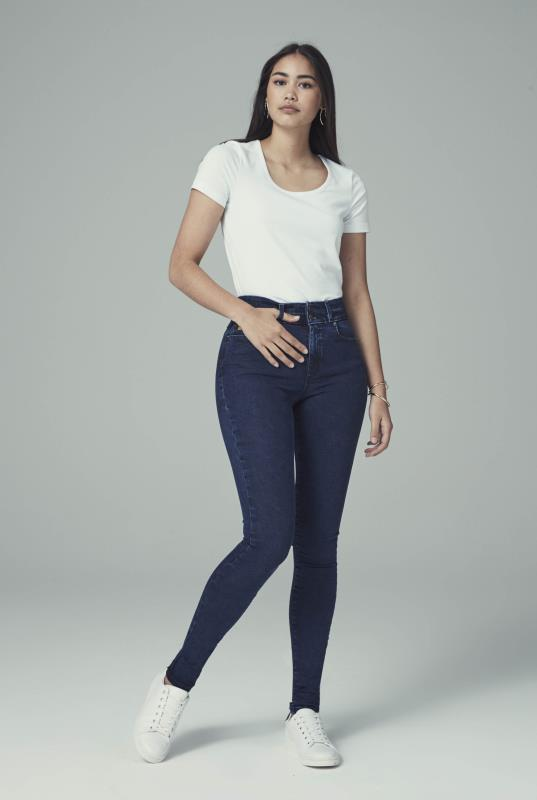 Tall Jeans YOGA JEANS Indigo Rachel High Rise Skinny Jean