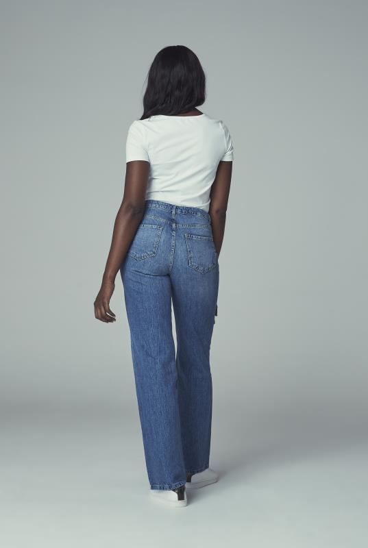 Washed Vintage Blue Wide Leg Jean