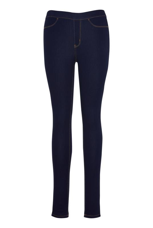 Blue Pull On Denim Jeggings